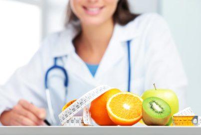 cibo sano in ufficio del biologo nutrizionista