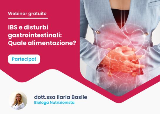 IBS e problemi gastrointestinali, quale nutrizione? – Webinar gratuito